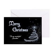 Minimalistic Christmas card for grandma. Greeting