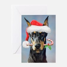 Doberman Christmas Greeting Cards