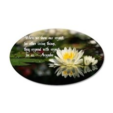 American Indian proverb 35x21 Oval Wall Decal