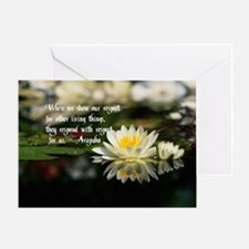 American Indian proverb Greeting Card