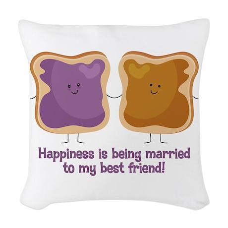 PBJ Married Best Friend Woven Throw Pillow