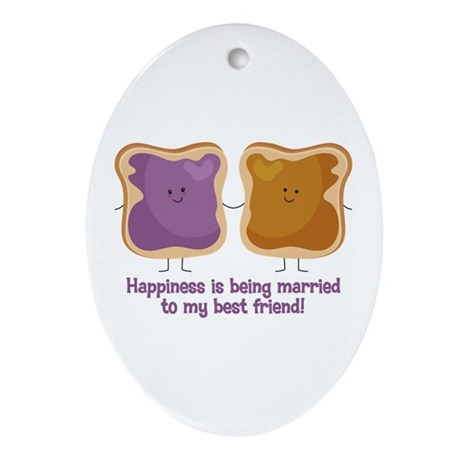 PBJ Married Best Friend Ornament (Oval)
