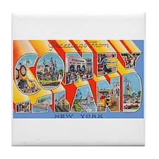 Coney Island New York Tile Coaster