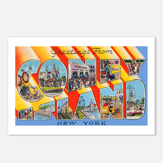 Coney Island New York Postcards (Package of 8)