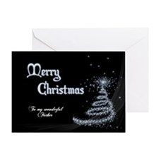 Christmas card for father Greeting Cards