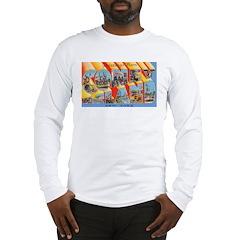 Coney Island New York (Front) Long Sleeve T-Shirt