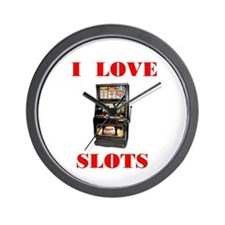 I LOVE SLOTS Wall Clock