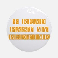 I-read-bedtime-FLE-ORANGE Ornament (Round)