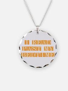 I-read-bedtime-FLE-ORANGE Necklace