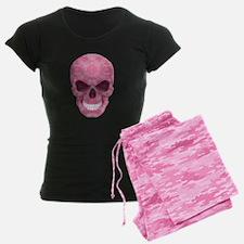 Pink Camouflage Skull Pajamas