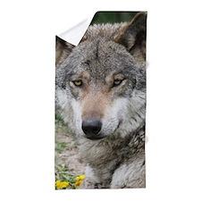 Wolf 013 Beach Towel