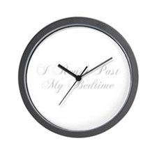 I-read-bedtime-cho-light-gray Wall Clock
