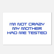 Im-not-crazy-SAVED-BLUE Postcards (Package of 8)
