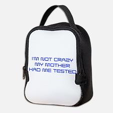 Im-not-crazy-SAVED-BLUE Neoprene Lunch Bag