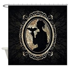 Portrait Of Lady With Bat Shower Curtain
