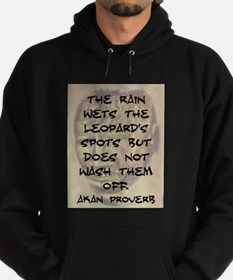 The Rain Wets The Leopards Spots Hoodie (dark)