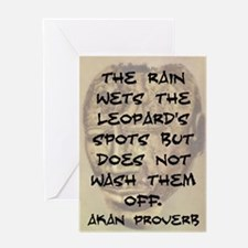 The Rain Wets The Leopards Spots Greeting Card