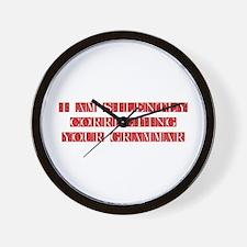 GRAMMAR-FLE-RED Wall Clock