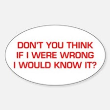 DONT-YOU-THINK-EURO-RED Decal