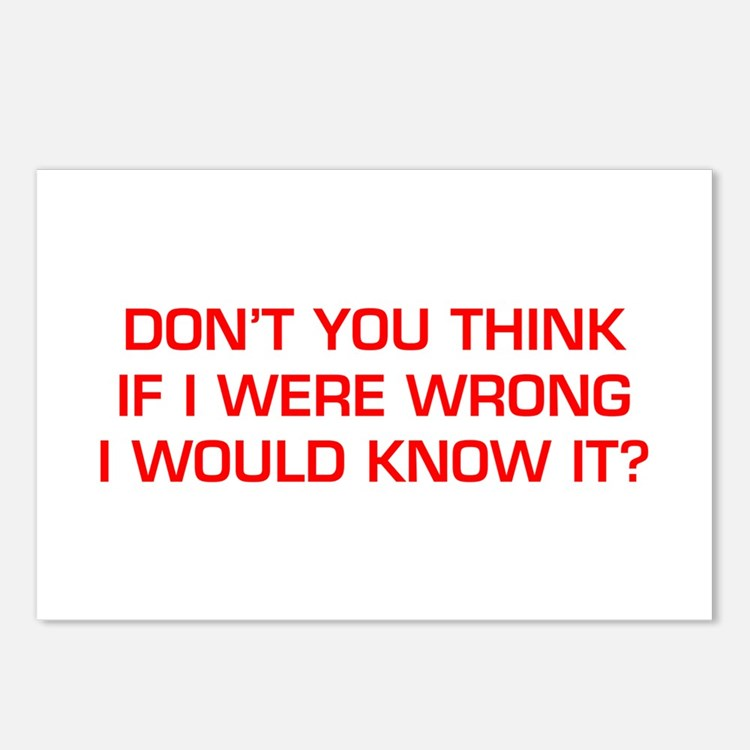 DONT-YOU-THINK-EURO-RED Postcards (Package of 8)
