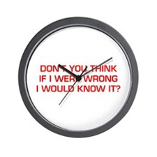 DONT-YOU-THINK-EURO-RED Wall Clock