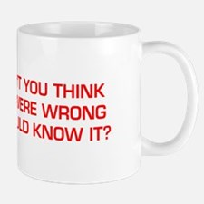 DONT-YOU-THINK-EURO-RED Mugs