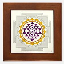 Sri Yantra Framed Tile
