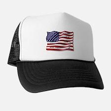 Never Forgotten Hero Flag Trucker Hat