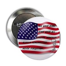 """Never Forgotten Hero Flag 2.25"""" Button"""