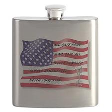 Never Forgotten Hero Flag Flask