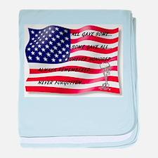 Never Forgotten Hero Flag baby blanket