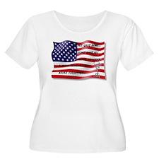 Never Forgotten Hero Flag Plus Size T-Shirt