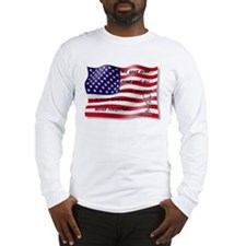 Never Forgotten Hero Flag Long Sleeve T-Shirt