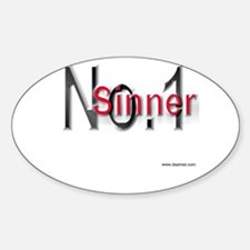 """""""No.1 Sinner"""" Oval Decal"""