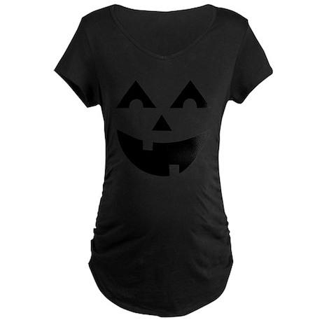 Laughing Jack O'Lantern Maternity Dark T-Shirt