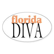 Florida Diva Oval Decal