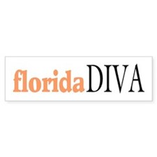 Florida Diva Bumper Bumper Sticker