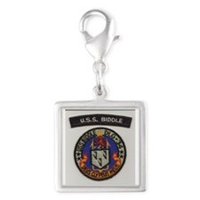 USS  Biddle DLG 34 Silver Square Charm