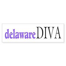 Delaware Diva Bumper Bumper Sticker