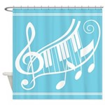 Music Classical Keyboard Notes Shower Curtain
