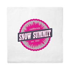 Snow Summit Ski Resort California Pink Queen Duvet