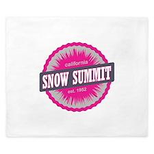 Snow Summit Ski Resort California Pink King Duvet