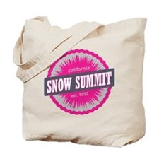 Snow Summit Ski Resort California Pink Tote Bag