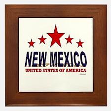 New Mexico U.S.A. Framed Tile