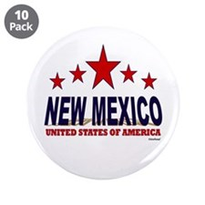 """New Mexico U.S.A. 3.5"""" Button (10 pack)"""