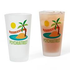 Retired Psychiatrist Drinking Glass
