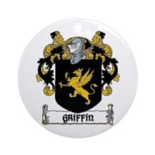 Griffin Coat of Arms Ornament (Round)