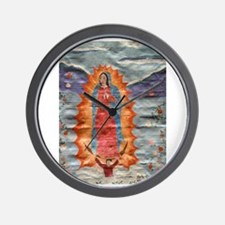 Our Lady of Guadalupe (Papyrus) Wall Clock