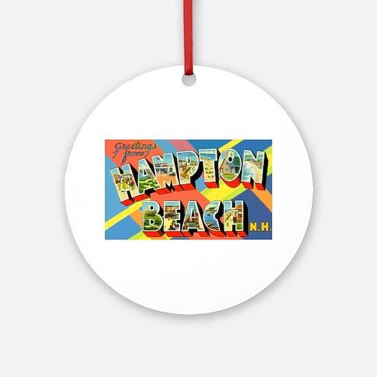 Hampton Beach New Hampshire Ornament (Round)