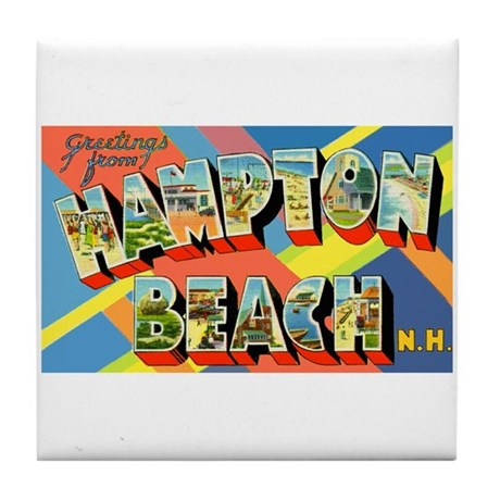 Hampton Beach New Hampshire Tile Coaster